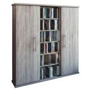 Cd-regal Santo B: 86 cm - Sonoma Eiche, KONVENTIONELL, Glas/Holzwerkstoff (86/91,5/18cm)