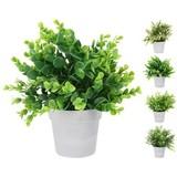 Dekopflanze Cathy - Weiß/Grün, LIFESTYLE, Kunststoff (23/25,5cm)