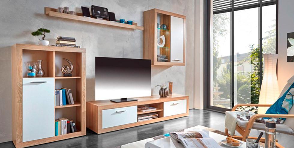 Fesselnd Wohnzimmereinrichtung In Holzoptik