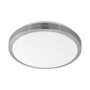 LED-Deckenleuchte Competa 1 - Weiß/Nickelfarben, MODERN, Kunststoff/Metall (32,5/5,5cm)