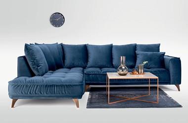Modrá sedačka - Möbelix