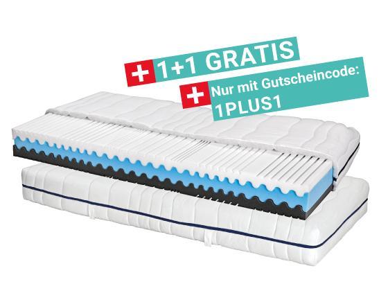 Komfortschaummatratze Silvy 90x200 - Weiß (90/200cm) - Primatex
