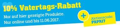 Zum Vatertag 10% Rabatt auf über 100 Super-Schnäppchen