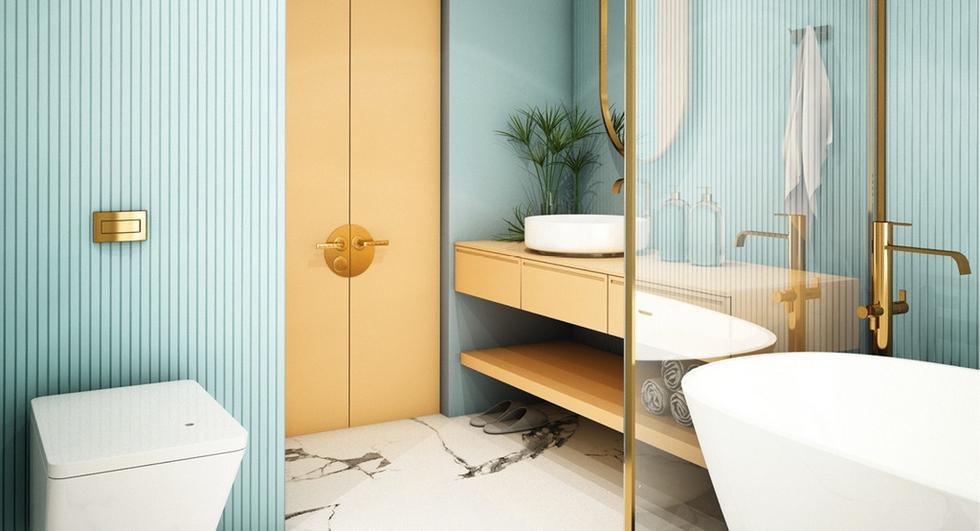 Kúpeľňa v pastelových odtieňoch
