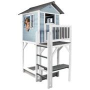 Spielhaus Sunny Lodge Xxxl Blau/Weiß - Blau/Weiß, MODERN, Holz (114/249/168cm)