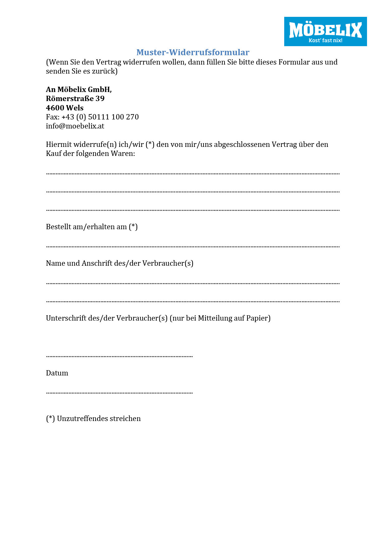 Kaufvertrag Gebrauchte Küche Muster: Privat