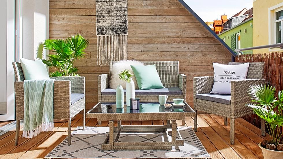 Záhradný nábytok z umelého ratanu - sedacia súprava Jamaika