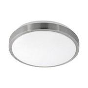 LED-Deckenleuchte Competa 1 - Weiß/Nickelfarben, MODERN, Kunststoff/Metall (24,5/5,5cm)
