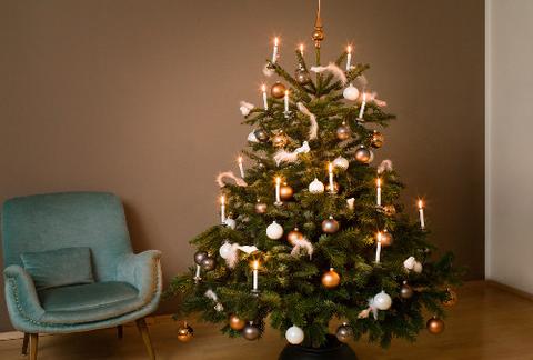 Modern geschmückter Weihnachtsbaum in Weiß und Kupfer.jpg
