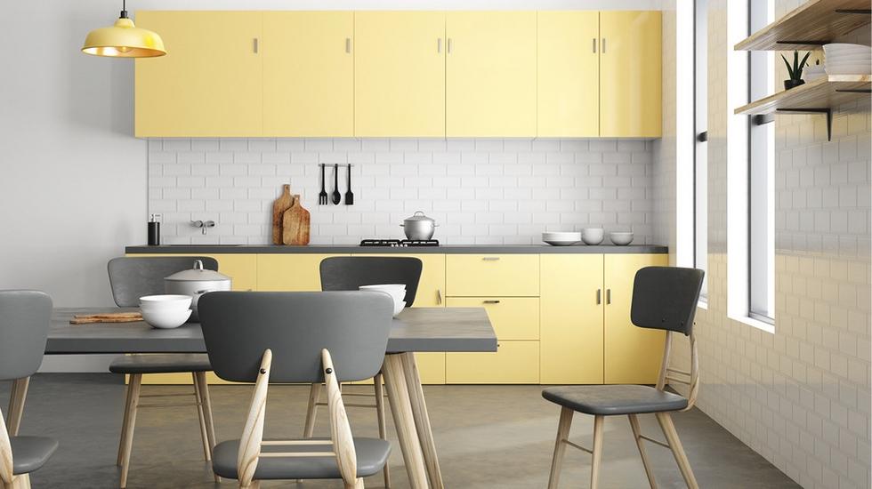 Pastelové barvy v kuchyni