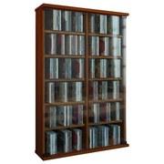 Cd-regal Roma B: 60 cm - Nussbaumfarben, KONVENTIONELL, Glas/Holzwerkstoff (60/92/18cm)