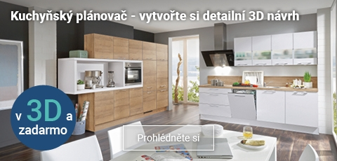 Online 3D plánovač kuchyní zdarma. Vytvořte si detailní návrh vaší nové, moderní kuchyně.