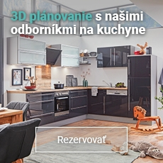 Dohodnite si odborné plánovanie kuchyne v 3D na pobočke s poradenstvom od profesionálov