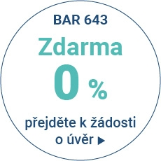 BAR 643 0% - Produkt s úrokovou sazbou 0% p.a. - varianty splácení 20 měsíců