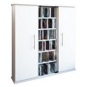 Cd-regal Santo B: 86 cm - Weiß, KONVENTIONELL, Glas/Holzwerkstoff (86/91,5/18cm)