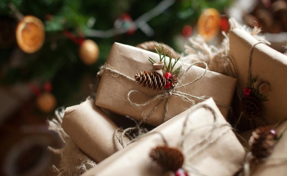 ekologické balenie vianočných darčekov
