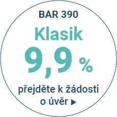 Produkt s úrokovou sazbou 9,9% p.a. - varianty splácení 20, 25, 30, 35 a 40 měsíců