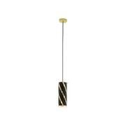 Hängeleuchte Pinto Nero 1 - Goldfarben/Schwarz, MODERN, Glas/Metall (11/110cm)