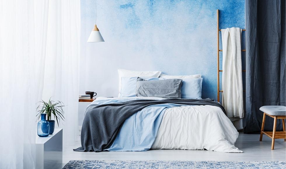 Modré textílie pre pocit pokoja