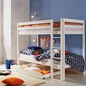 Stockbett in Weiss für das morderne Kinderzimmer