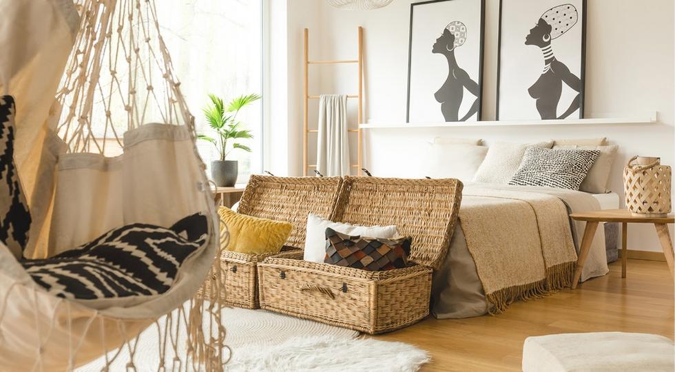 Prútené koše - dizajnový doplnok do každej spálne