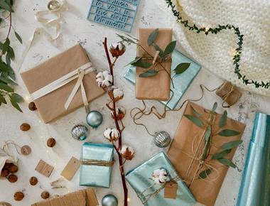 Kreatívne balenie darčekov Joyful Christmas