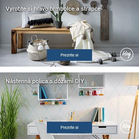 Blog, inšpirácie na bývanie, rady, tipy a triky, návody, nápady, riešenia a návrhy interiérov a exteriérov. Nakupujte výhodne.