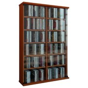 Cd-regal Roma B: 60 cm - Kirschbaumfarben, KONVENTIONELL, Glas/Holzwerkstoff (60/92/18cm)
