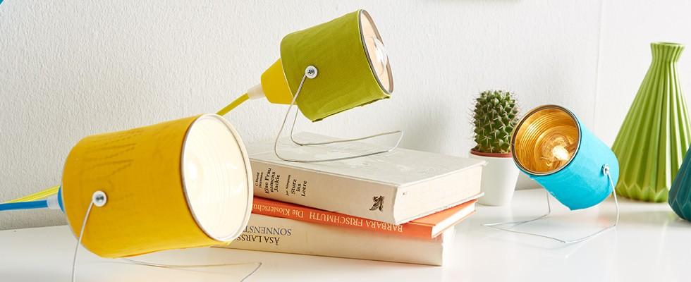 Lampy z plechovek