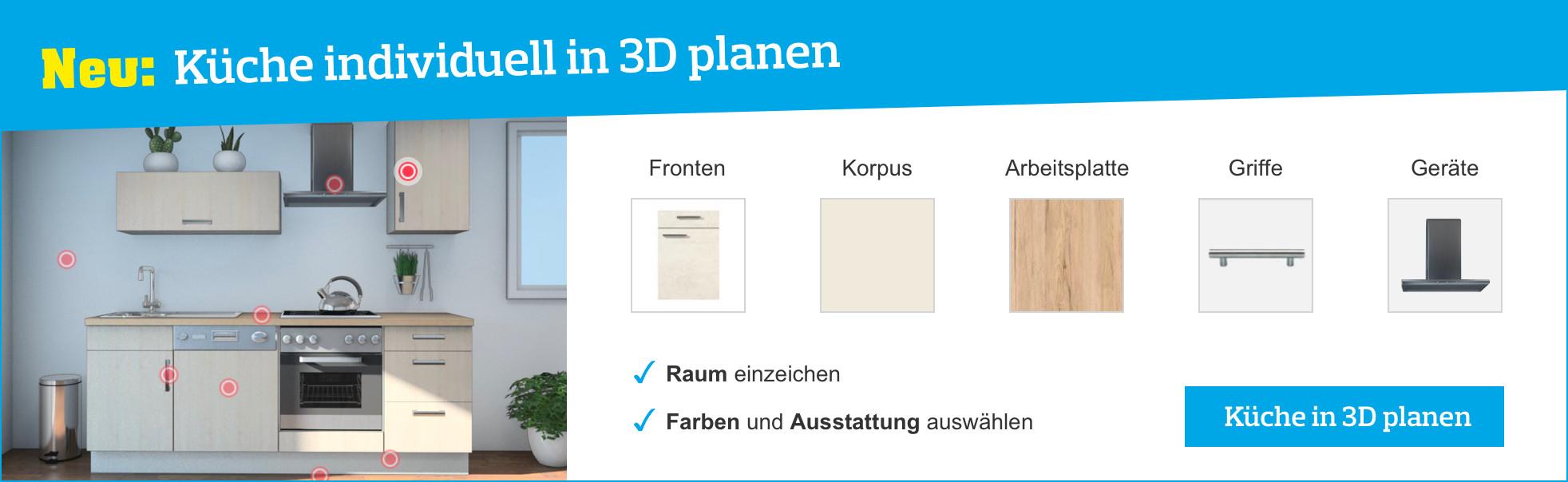 Bei Möbelix 3D Küchen planen
