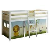 Hochbett Tipsi 90x200 cm Safari - Multicolor/Weiß, Natur, Holz (90/200cm) - Carryhome