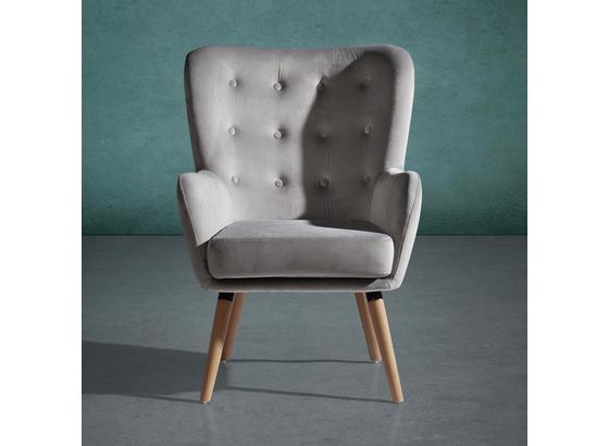 Křeslo Cooper - světle šedá, Moderní, dřevo/textilie (69/95/76cm) - Mömax modern living