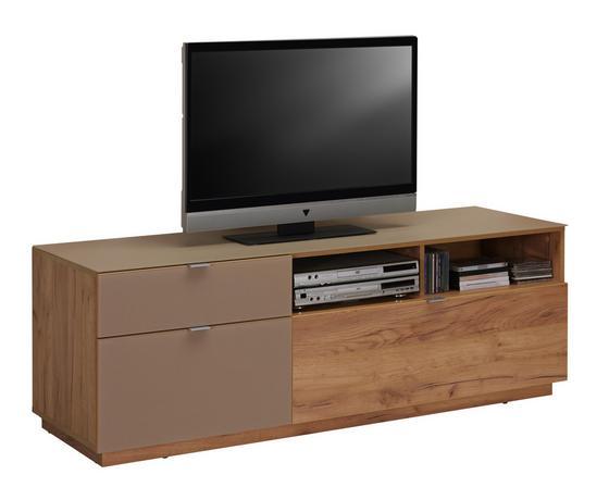 Tv - Elem Contur - Tölgyfa, modern, Faalapú anyag/Üveg (160/54/52cm)
