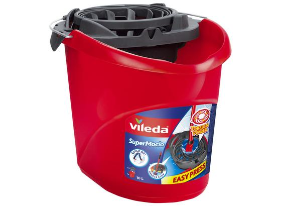 Eimer Vileda Mocio - Rot, KONVENTIONELL, Kunststoff (37.3/27.7/27.9cm) - Vileda