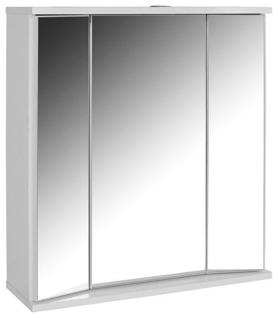 Tükrös Szekrény Koleta - Fehér, konvencionális, Fa (65/70/21cm)