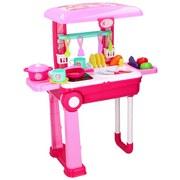 Kinderküche Eddy Toys 2in1 - Pink, MODERN, Kunststoff (24/15/39cm)