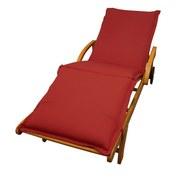 Liegenauflage Premium B: 62 cm Rot - Rot, Basics, Textil (62/8-9/195cm) - Ambia Garden