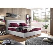 Boxspringbett Cardiff 1 ca. 180x200 cm - Weinrot/Weiß, Trend, Holzwerkstoff/Textil (180/200cm) - Carryhome