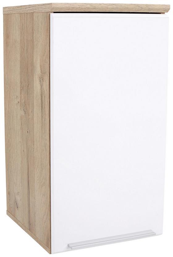 Závesná Skrinka Mindi - farby dubu/biela, Konvenčný, umelá hmota/kov (40,2/68,1/29,8cm)