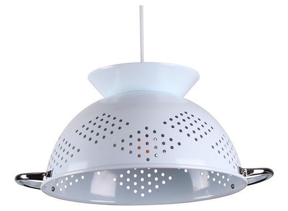 Závesná Lampa Noodles - biela, Štýlový, keramika (38/150cm) - Modern Living