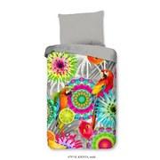 Bettwäsche Kjenta 140/200cm Greige/Multicolor - Greige/Multicolor, Basics, Textil