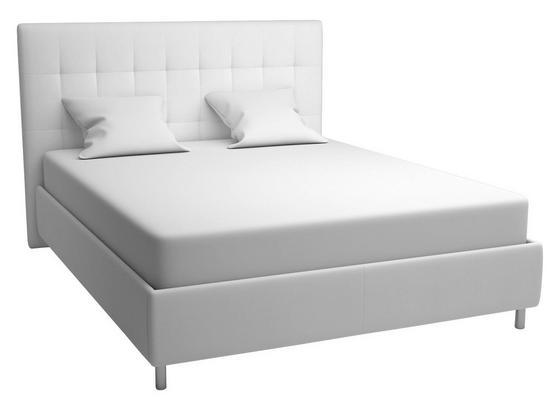 Polsterbett im Lederlook 160x200cm Capri, Weiß - Schwarz/Weiß, MODERN, Holz/Textil (173/120/212cm)