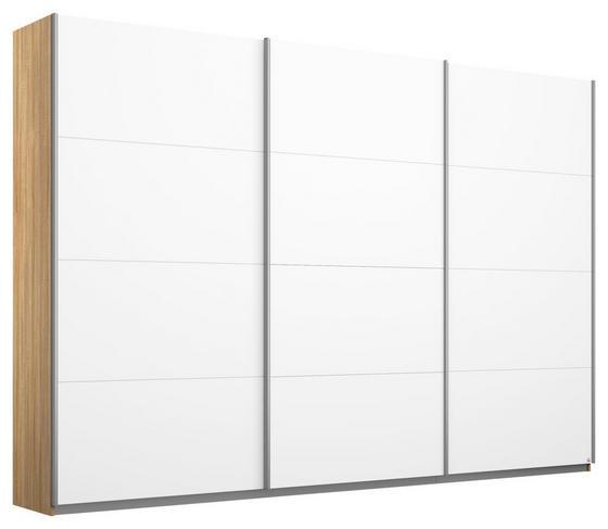 Schwebetürenschrank Belluno 271 cm Eiche/ Weiß - Weiß/Sonoma Eiche, MODERN, Holzwerkstoff (271/210/62cm)