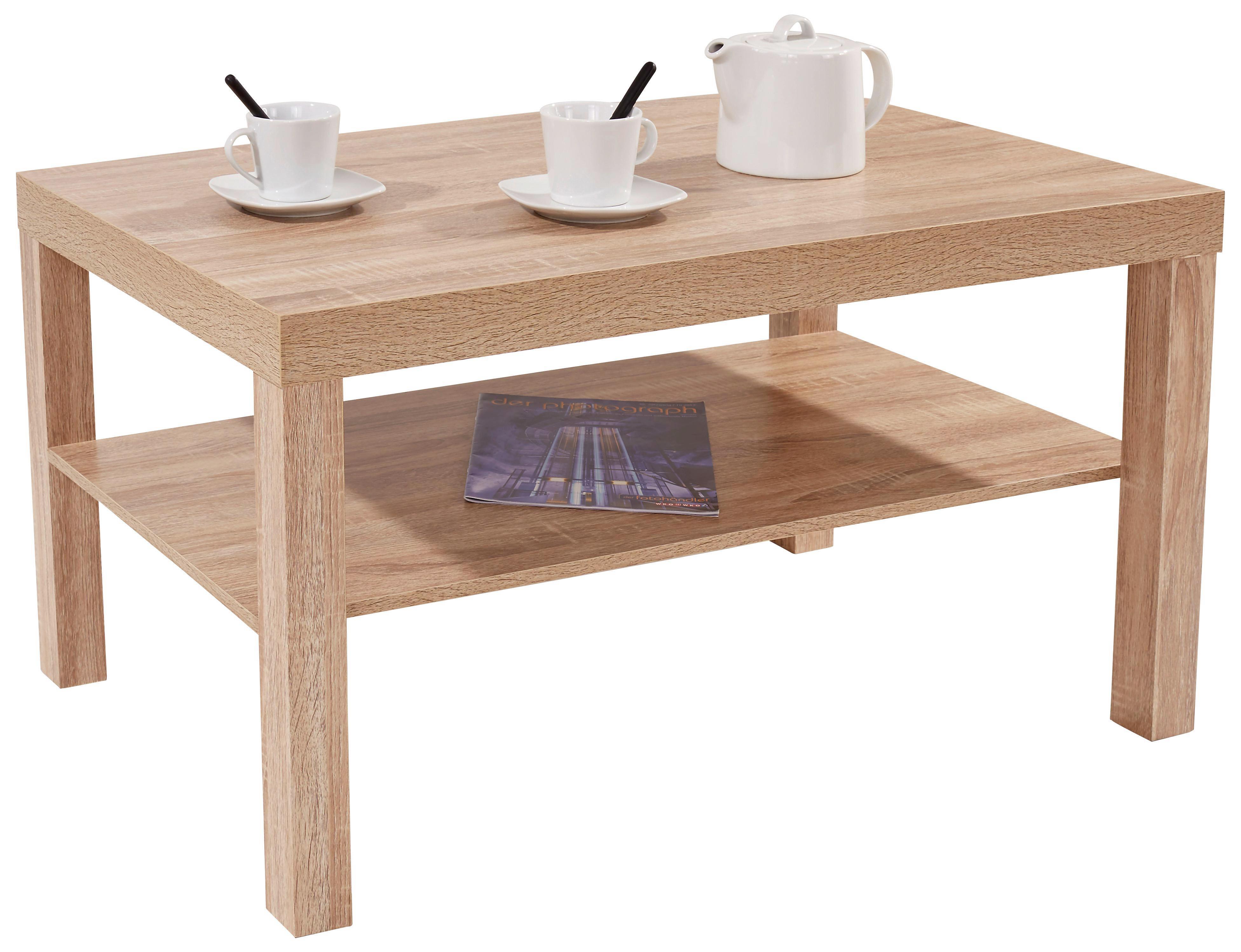 Dohányzóasztal Light - Sonoma tölgy, modern, faanyagok (90/45/55cm)