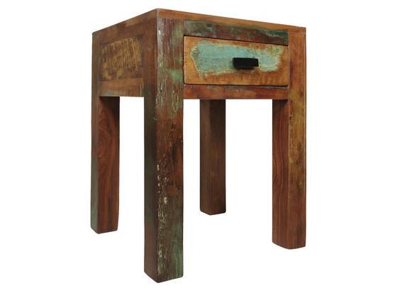 Nachtkästchen Kalkutta B: ca. 40 cm - Braun, LIFESTYLE, Holz (40/55/40cm) - Carryhome