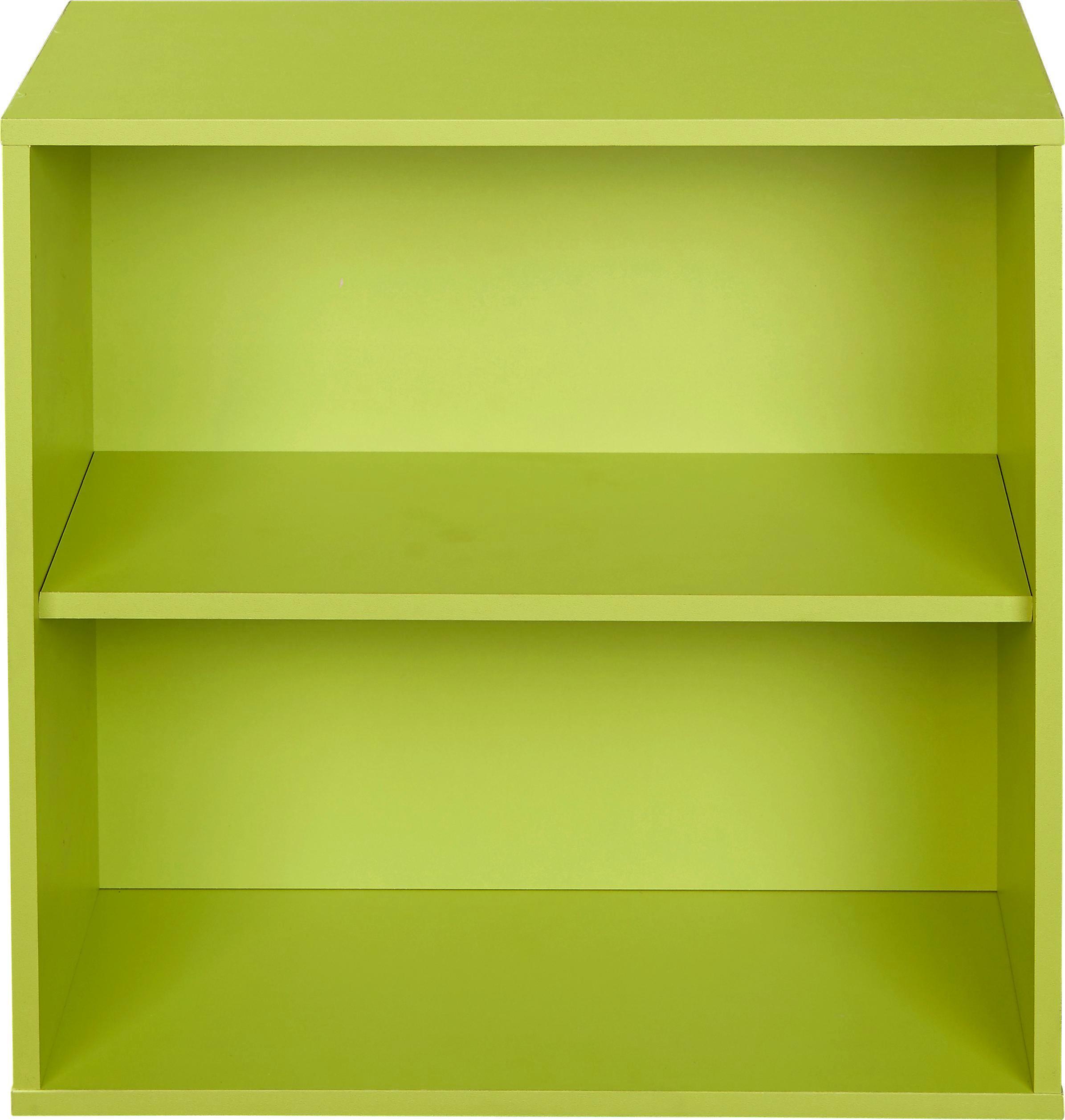 Polc Box - zöld, modern, faanyagok (46/46/25cm)