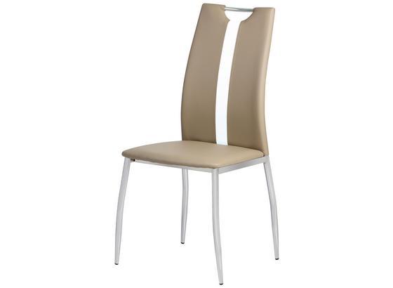 Židle Viki - světle hnědá, Moderní, kov/umělá hmota (44/97/41cm)