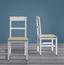 Stolička Nicolo - hnedá/biela, Moderný, drevo (45/90/42cm) - Modern Living