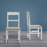 Židle Nicolo - bílá/hnědá, Moderní, dřevo (45/90/42cm) - Modern Living