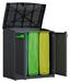 Müllsackständer Moby Recycling 90/100/55 - Anthrazit, MODERN, Kunststoff (90/100/55cm) - Keter